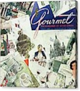 Gourmet Cover Illustration Of Drawings Portraying Acrylic Print