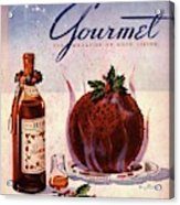 Gourmet Cover Illustration Of Flaming Chocolate Acrylic Print