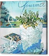 Gourmet Cover Illustration Of Mint Julep Packed Acrylic Print