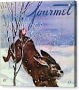Gourmet Cover Of A Rabbit On Snow Acrylic Print