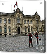 Government Palace Guards In Lima Acrylic Print