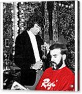 Governor Dan Evans Haircut Acrylic Print