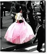 Gown Of Pink Acrylic Print