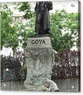 Goya Statue In Madrid Acrylic Print