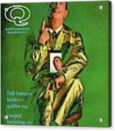 Gq Cover Featuring Salvador Dali Acrylic Print