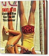Gq Cover Of Couple Lying Face Down On Boat Deck Acrylic Print