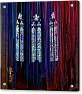 Grace Cathedral With Ribbons Acrylic Print