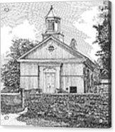 Grace Episcopal Church In Yorktown Virginia Acrylic Print