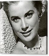 Grace Kelly Smiles Acrylic Print by Retro Images Archive
