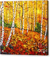 Graceful Birch Trees Acrylic Print