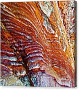 Graceful Grooves Rock In Petra-jordan Acrylic Print