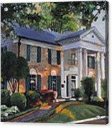 Graceland Home Of Elvis Acrylic Print