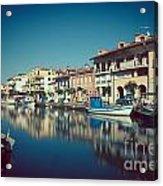 Grado Harbor Acrylic Print