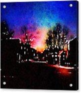 Graduate Housing Princeton University Nightscape Acrylic Print