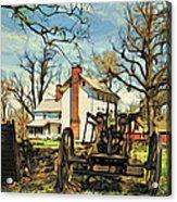Graeme Park Farmhouse View Acrylic Print