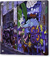 Graffiti Alley San Francisco Acrylic Print