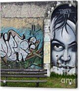 Graffiti Art Curitiba Brazil 1 Acrylic Print by Bob Christopher