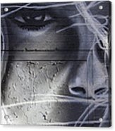 Graffiti Art With Mixed Textures Acrylic Print