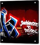 Graffiti - Box Car Art  7097-008 Acrylic Print