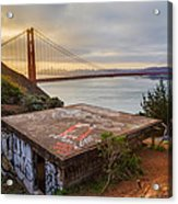 Graffiti By The Golden Gate Bridge Acrylic Print by Sarit Sotangkur