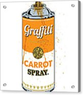 Graffiti Carrot Spray Can Acrylic Print