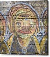 Graffiti Covered Cement Wall Acrylic Print