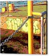 Graffiti Dock Acrylic Print