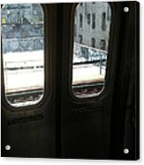 Graffiti From Subway Train Acrylic Print