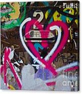 Graffiti Heart Acrylic Print by Victoria Herrera
