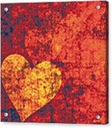 Graffiti Hearts Acrylic Print