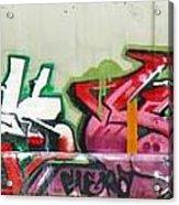 Graffiti Hot Red Hot Pink Acrylic Print