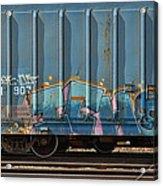 Graffiti - Ich - Blue On Blue Acrylic Print