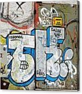 Graffiti In Sozopol Acrylic Print