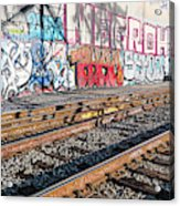 Graffiti On The Wall, Tenth Street Acrylic Print