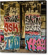 Graffiti On The Walls, Tenth Street Acrylic Print