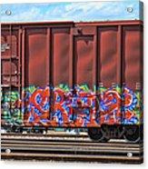 Graffiti - Orange Pop Acrylic Print