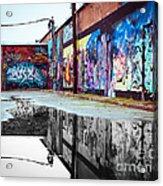 Graffiti Reflection Acrylic Print
