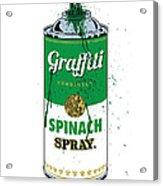 Graffiti Spinach Spray Can Acrylic Print