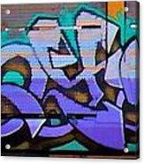 Graffiti Tangled Purple Acrylic Print