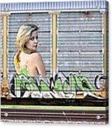 Graffiti - Tinkerbell Acrylic Print by Graffiti Girl