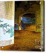 Graffiti Under The Bridge Acrylic Print