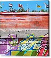 Graffiti With Flags Acrylic Print