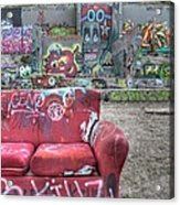Grafitti Couch Acrylic Print