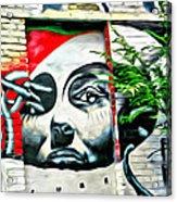 Grafitti Three Lady Acrylic Print