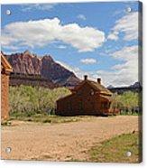 Grafton Utah Butch Cassidy Movie Set Panorama Acrylic Print