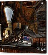 Grain Elevator Acrylic Print by Bob Christopher