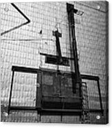 grain elevator doors and filling pipe leader Saskatchewan Canada Acrylic Print