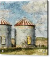 Grain Silos - Digital Paint Acrylic Print