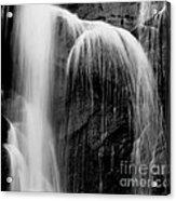 Grampians Waterfall Bw Acrylic Print
