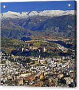 Granada And The Alhambra Acrylic Print